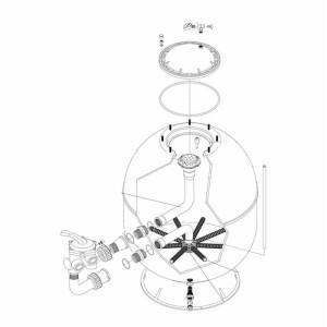 Nr.1 Kesseldeckel, Set mit O-Ring und T-Stück