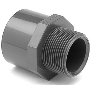 Übergangsmuffennippel PVC - Klebemuffe x Aussengewinde