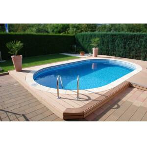 Pool Ovalbecken Set frei konfigurierbar 490 x 300 cm 120...
