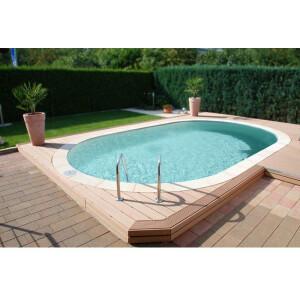 Pool Ovalbecken Set frei konfigurierbar - SAND