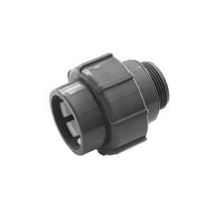 Flex-Fit PVC-U Übergangsverschraubung Klemm/ Außengewinde