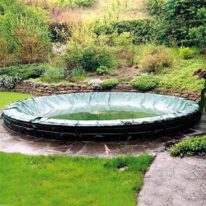Winterabdeckung Pool - OVAL - Premium 200 g/m²  800 x 400 cm