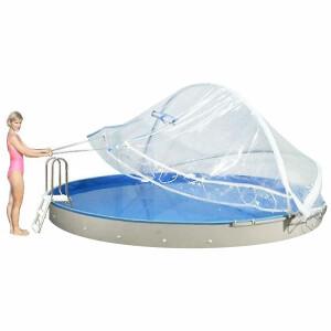 Cabrio Dome Überdachung für RUNDBECKEN 300 - 600cm