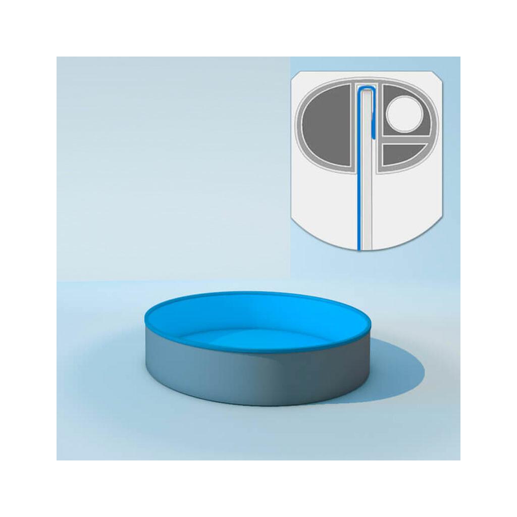 Schwimmbecken poolfolie rund tiefe 120 cm x 0 6 mm pvc for Poolfolie 460 x 120