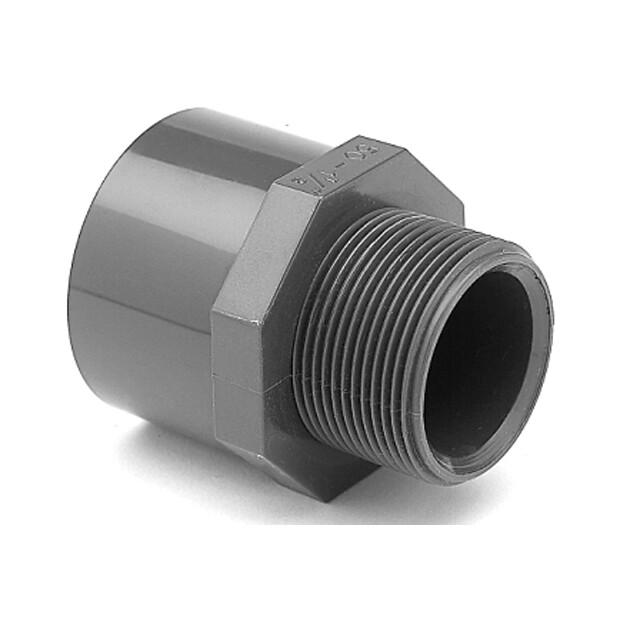 """Übergangsnippel PVC Klebestutzen x Aussengewinde Rohr 63 x 2"""" AG"""