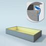 Poolfolie rechteck - T 150 cm x 0,8 mm - sand (eckige Ecken)