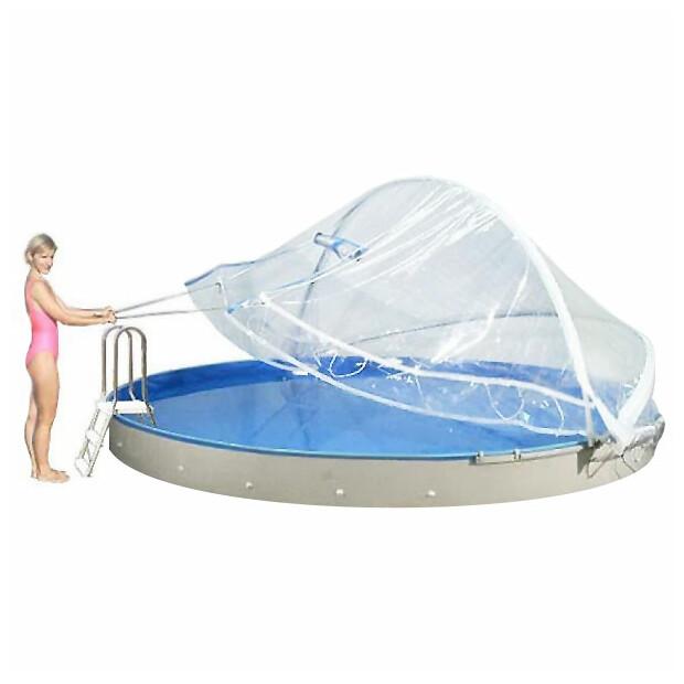 Cabrio DOME Überdachung für runde Becken 350-360 cm