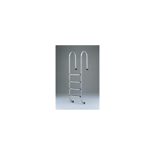 """Leiter """"Luxus"""" für Einbaubecken - enge Bauform anatomische Stufen 4-stufig"""