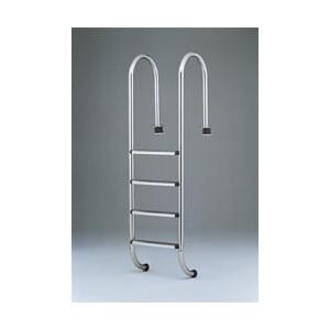 """Leiter """"Luxus"""" für Einbaubecken - enge Bauform antirutsch Stufen 4-stufig"""