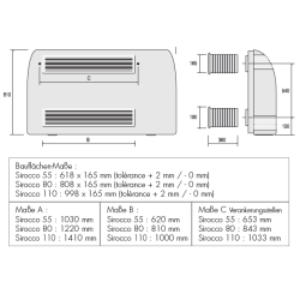 ZODIAC Sirocco Wand 55-110 - Pool-Schwimmbad Entfeuchter SIW4110 - 4,6 l/h 400V