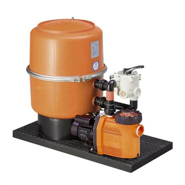 Pool Sandfilteranlage -DWS- mit Speck-Pumpe Badu 90 (400 Volt) bis 14 m³/h DWS 40