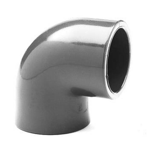 Winkel PVC 90° allseitig Klebemuffen für Rohr 50mm
