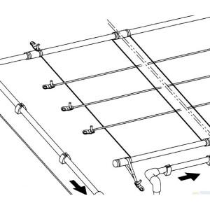 Polyesterband div. Längen zur Befestigung Speck- und Solardurabsorber Rolle 50 lfm
