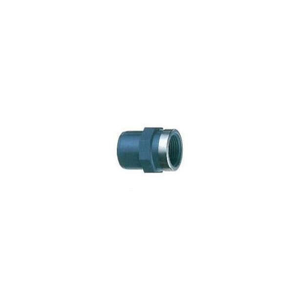 """Übergangs-Gewindemuffe PVC kurz - Klebemuffe/ Stutzen x Innengewinde Rohr 16/25 mm I/A x 1/2"""" IG"""