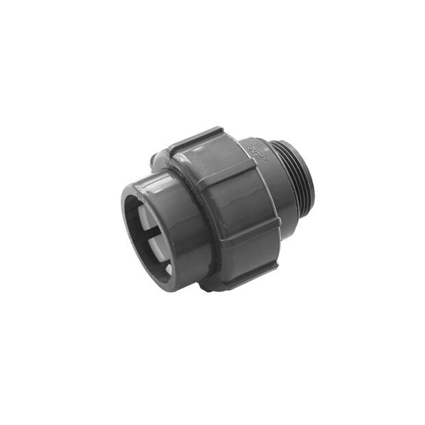 "Flex-Fit PVC-U Übergangsverschraubung Klemm/ Außengewinde d 63 Klemm x 2"" AG"