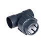 Flex-Fit PVC-U Übergangs T-Stück Klebemuffe/ Klemm/ Klebmuffe d 50 x 50 x 50 mm