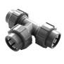 Flex-Fit PVC-U Übergangs T-Stück  3x Klemmverbindung d 50 x 50 x 50 mm