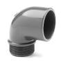 """Winkel PVC 90° Klebemuffe/ Aussengewinde Rohr 50 mm x 2"""""""