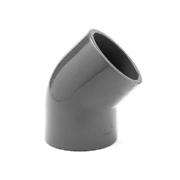 Winkel PVC 45° aus Rohr, allseitig Klebemuffen für Rohr 63mm
