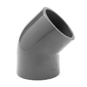Winkel PVC 45° aus Rohr, allseitig Klebemuffen...