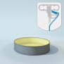 Schwimmbecken Innenhülle rund - Keilbiese - 150 cm x 0,8 mm - PVC sand