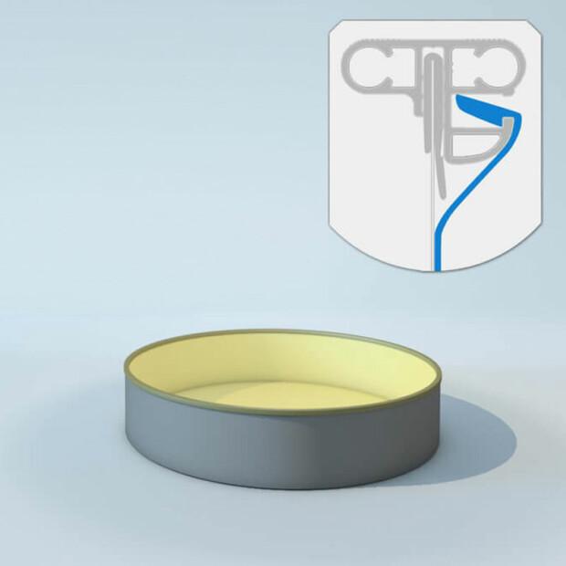 Schwimmbecken Innenhülle rund - Keilbiese - 120 cm x 0,8 mm - PVC sand
