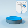 Schwimmbecken Innenhülle rund - Keilbiese - 120 cm x 0,6 mm - PVC blau 350 cm