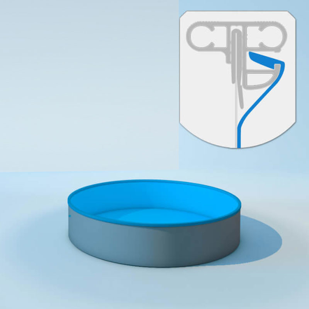 Schwimmbecken Innenhülle rund - Keilbiese - 120 cm x 0,6 mm - PVC blau 420 cm