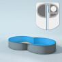 Schwimmbecken Innenhülle Achtform - 150 cm x 0,6 mm - blau 500 x 855 cm