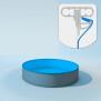 Schwimmbecken Innenhülle rund - Keilbiese - 150 cm x 0,8 mm - PVC blau 300 cm