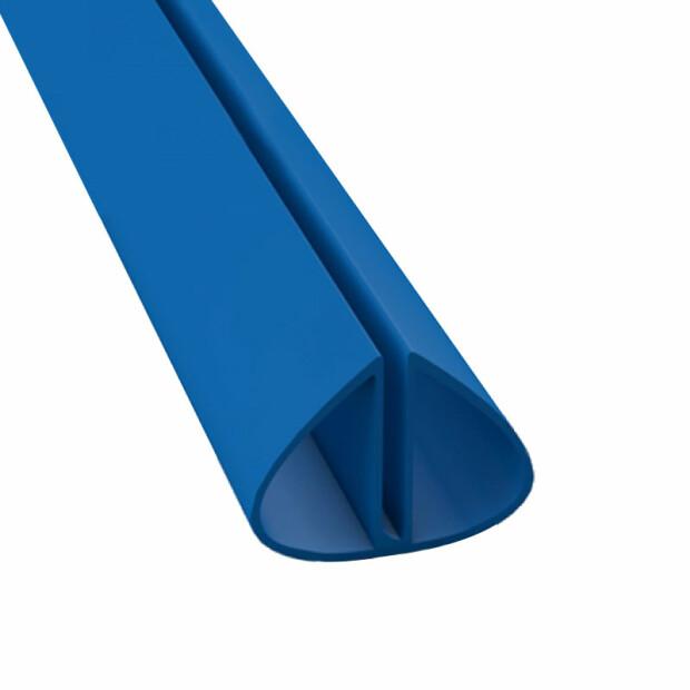 Bodenschienenpaket- Rund, Blau inkl. Profilverbinder 450 cm