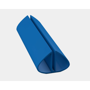 Bodenschienenpaket- Rund, Blau inkl. Profilverbinder 500 cm