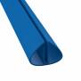 Bodenschienenpaket- Rund, Blau inkl. Profilverbinder 600 cm