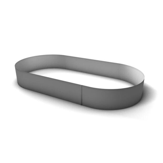 Pool Stahlmantel Oval - 120 cm Tief 0,6 mm  530 x 320 cm