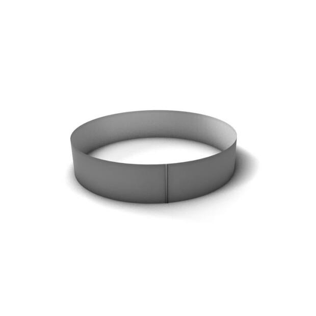 Rundbecken Stahlmantel - 120 cm Tief 0,6 mm 450 x 120 cm