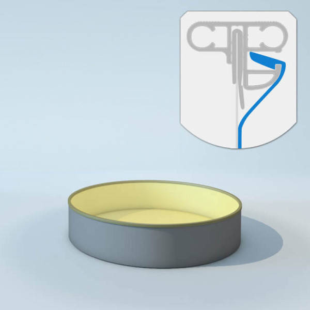 Schwimmbecken Innenhülle rund - Keilbiese - 120 cm x 0,8 mm - PVC sand 400 cm