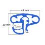 Pool Kombi-Handlauf RUND blau  420 cm
