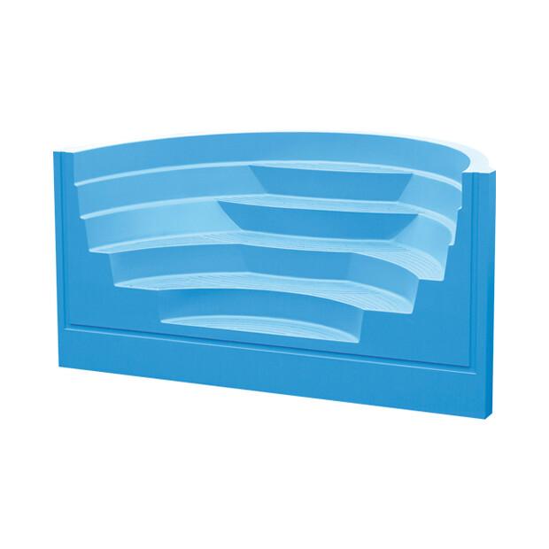 Treppenanlage Acryl Roman Transat 4-stufig B 250cm - französisch blau