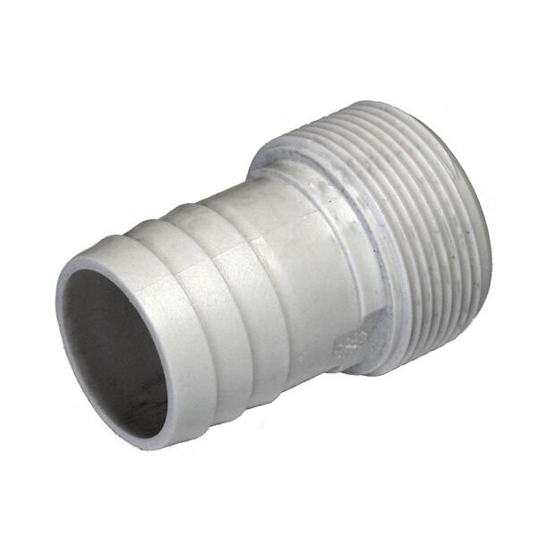"1 1/2"" AG x 38 mm trans- gerippt m. O-Ring"