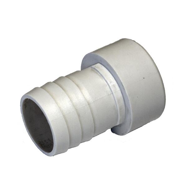 Ø 50 mm Klebe x 38 mm weiß gerippt
